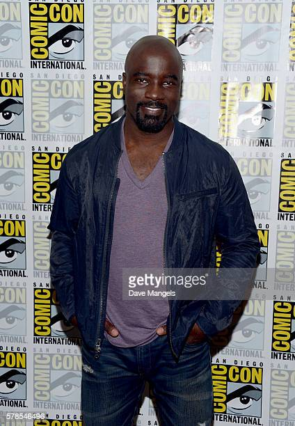 """Actor Mike Colter attends the """"Luke Cage"""" press line during Comic-Con International 2016 at Hilton San Diego Bayfront on July 21, 2016 in San Diego,..."""