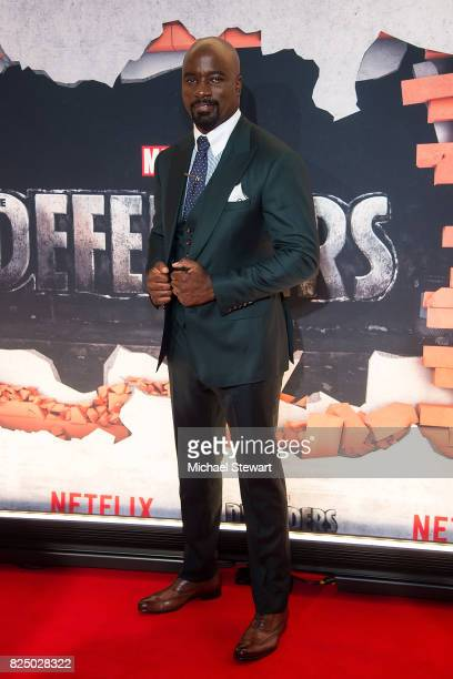 Actor Mike Colter attends the 'Marvel's The Defenders' New York premiere at Tribeca Performing Arts Center on July 31 2017 in New York City
