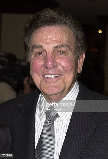 Actor Mike Connors arrives at Roast This An Evening With Muhammad Ali and Friends celebrity roast November 16 2000 in Los Angeles CA The event...