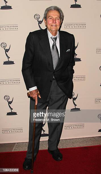 Actor Mike Connors attends the Academy of Television Arts and Sciences' Primetime Television Crimefighters panel discussion at the Leonard H...