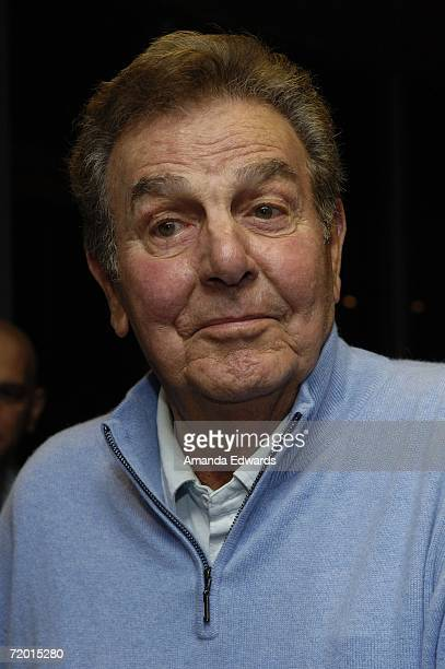 Actor Mike Connors attends the signing of Bob Newhart's book I Shouldn't Even Be Doing This at Borders on September 26 2006 in Westwood California