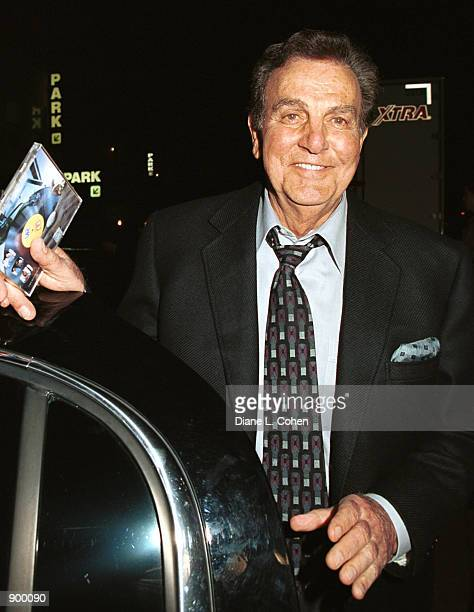 Actor Mike Connors from leaves TV Land's 5th Anniversary Party April 25 2001 in New York City