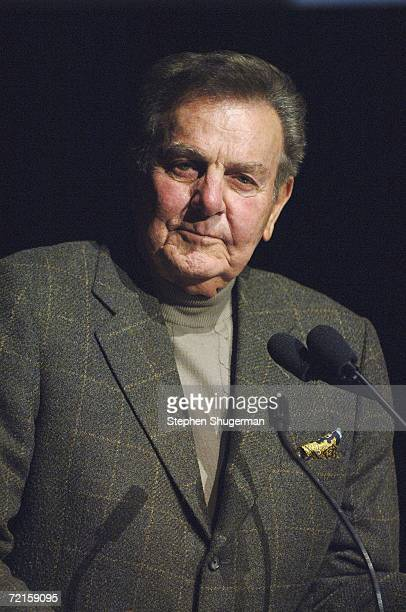Actor Mike Connors speaks at ATAS Celebrates 60 Years A Retrospective Of Television And The Academy at the Academy's Leonard H Goldenson Theater on...