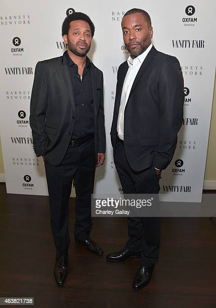 Actor Mike Epps and director Lee Daniels attend VANITY FAIR and Barneys New York Dinner benefiting OXFAM hosted by Rooney Mara at Chateau Marmont on...