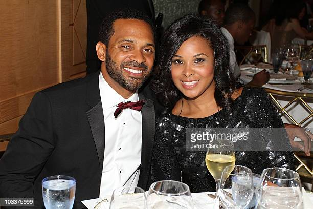 Actor Mike Epps and wife Mechelle Epps attend the Create A Future Benefit at Ritz Carlton Battery Park on August 12 2010 in New York City