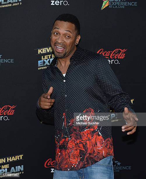 Actor Mike Epps arrives at the premiere of Summit Entertainment and Code Black Film's 'Kevin Hart Let Me Explain' at Regal Cinemas LA Live on June 27...