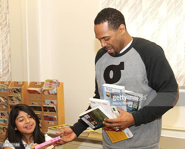 Actor Mike Epps attends the Michael and Mechelle Epps Foundation Media Day at the Crispus Attucks Medical Magnet High School on February 3 2012 in...