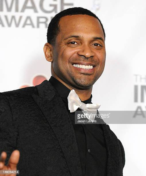 Actor Mike Epps poses in the press room at the 43rd annual NAACP Image Awards at The Shrine Auditorium on February 17 2012 in Los Angeles California