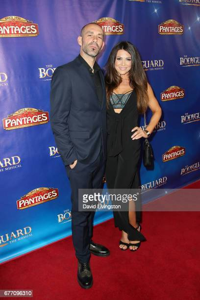 Actor Mike Estes and Cerina Vincent arrive at the premiere of The Bodyguard at the Pantages Theatre on May 2 2017 in Hollywood California