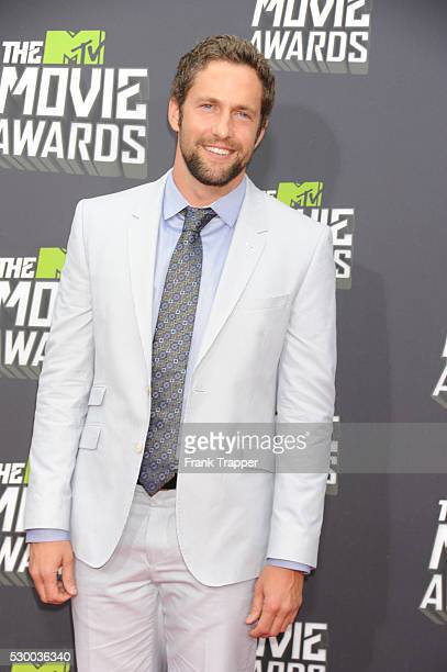 Actor MIke Faiola arrives at the 2013 MTV Movie Awards held at Sony Pictures Studios in Culver City