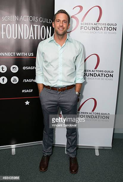 Actor Mike Faiola attends The SAG Foundation's Conversations series presents MTV's Awkward at SAG Foundation Actors Center on October 19 2015 in Los...