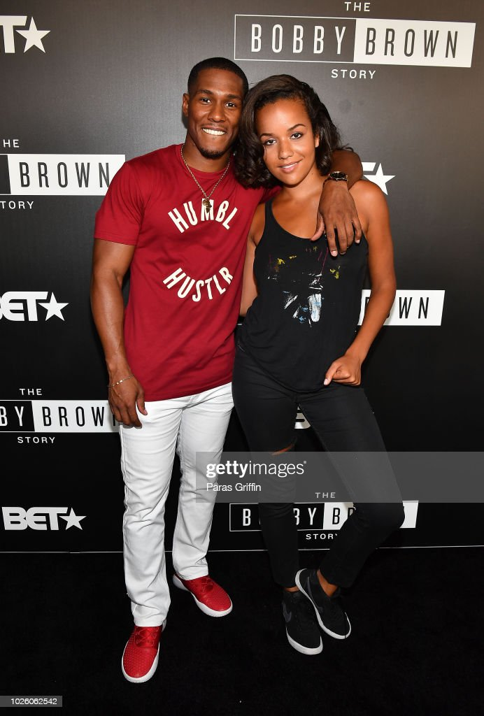 Actor Mike Merrill and actress Alyssa Goss attend The 'Bobby-Q' Atlanta Premiere Of 'The Bobby Brown Story' at Atlanta Contemporary Arts Center on September 1, 2018 in Atlanta, Georgia.