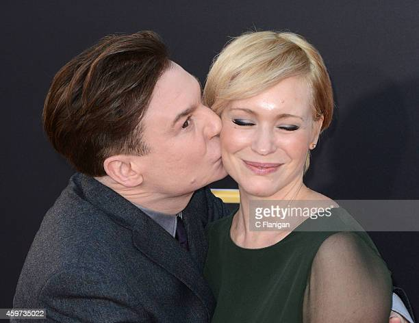 Actor Mike Myers and wife Kelly Tisdale arrive at the 18th Annual Hollywood Film Awards at The Palladium on November 14 2014 in Hollywood California
