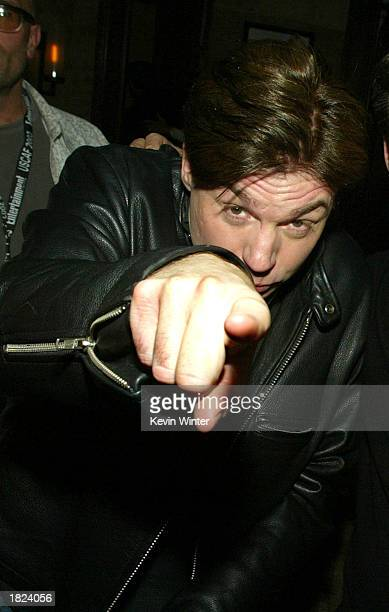 Actor Mike Myers arrives at Maxim Magazine's Warm and Fuzzy party for the US Comedy Arts Festival at Whiskey Rocks on February 28 2003 in Aspen...