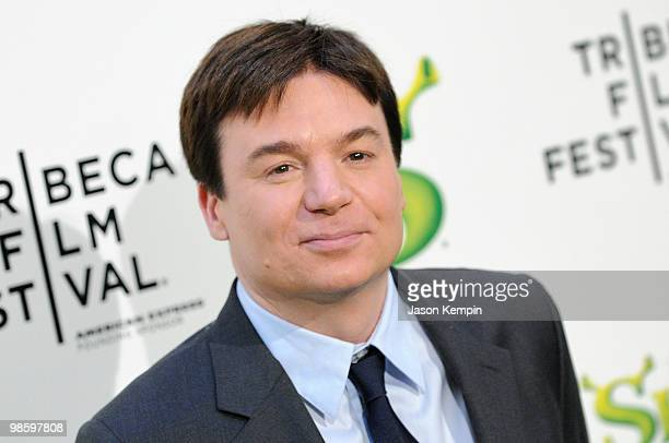 Actor Mike Myers attends the 2010 Tribeca Film Festival opening night premiere of Shrek Forever After at the Ziegfeld Theatre on April 21 2010 in New...