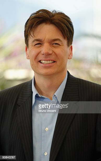 """Actor Mike Myers attends the photocall for """"Shrek 2"""" on May 15, 2004 at the Palais de Festival, in Cannes, France."""