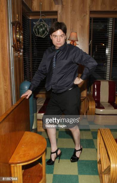 NEW YORK JUNE 16 Actor Mike Myers attends the 'Project Runway' party after the 67th Annual Peabody Awards at the Rusty Knot on June 16 2008 in New...