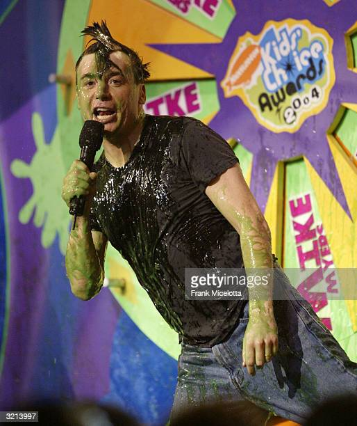 Actor Mike Myers gets slimed at Nickelodeon's 17th Annual Kids' Choice Awards at Pauley Pavilion on the campus of UCLA April 3 2004 in Westwood...