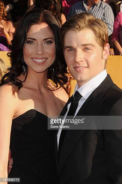 Actor Mike Vogel and Courtney Vogel arrives at the 18th Annual Screen Actors Guild Awards held at The Shrine Auditorium on January 29 2012 in Los...