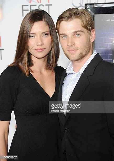 Actor Mike Vogel and model Courtney Vogel arrives at the Blue Valentine screening during AFI FEST 2010 presented by Audi held at Grauman's Chinese...