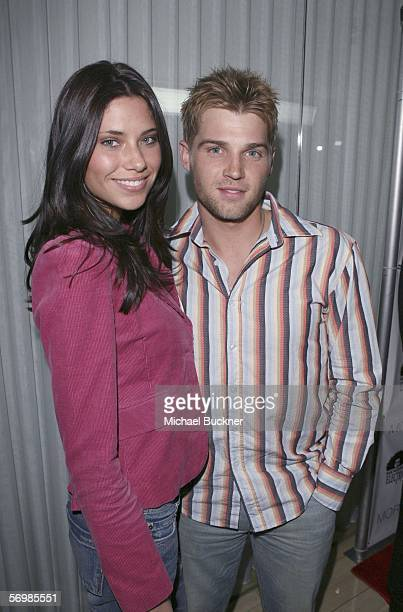 Actor Mike Vogel and wife Courtney arrive at the Los Angeles Confidential PreOscar party hosted by Hendrix Electric and Morgans Hotel Group at SkyBar...