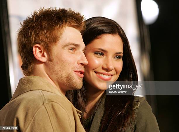 Actor Mike Vogel and wife Courtney Vogel arrive at the premiere of Rumor Has It at the Graumans Chinese Theater on December 15 2005 in Hollywood...