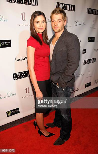 Actor Mike Vogel and wife Courtney Vogel arrive at the premiere of Across The Hall on December 1 2009 in Beverly Hills California