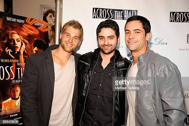 Actor Mike Vogel director Alex Merkin and actor Danny Pino arrive at the premiere of Across The Hall on December 1 2009 in Beverly Hills California