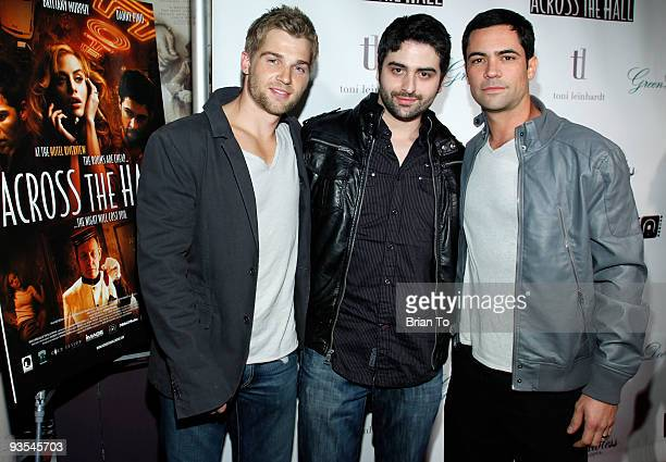 Actor Mike Vogel director Alex Merkin and actor Danny Pino attend Across The Hall Los Angeles Premiere at Laemmle's Music Hall 3 on December 1 2009...