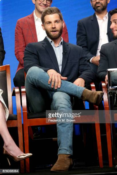 Actor Mike Vogel of 'The Brave' speaks onstage during the NBCUniversal portion of the 2017 Summer Television Critics Association Press Tour at The...