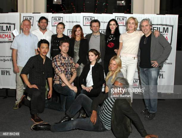 Actor Mike White Director Chris Weitz Oliva Wilde Sarah Burns Michael Sheen Krysten Ritter Sharon Stone and Director Paul Weitz actor John Cho Topher...