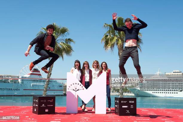 Actor Miki Esparbe actress Maria Ribera director Elena Trape actress Alexandra Jimenez producer Marta Ramirez and actor Bruno Sevilla attend 'Las...