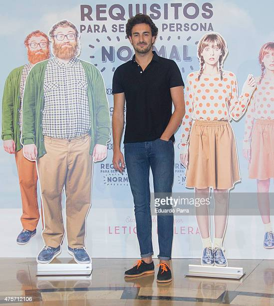 Actor Miki Esparbe attends the photocall for the movie 'Requisitos para ser una persona normal' at Palafox cinema on June 3 2015 in Madrid Spain
