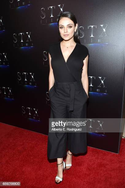 Actor Mila Kunis at CinemaCon 2017 The State of the Industry Past Present and Future and STXfilms Presentation at The Colosseum at Caesars Palace...
