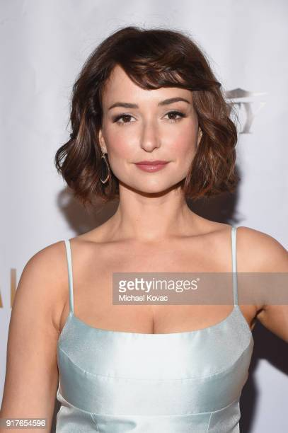 Actor Milana Vayntrub attends the Advanced Imaging Society 2018 Lumiere Awards presented by Dell and Cisco at Steven J Ross Theatre on February 12...