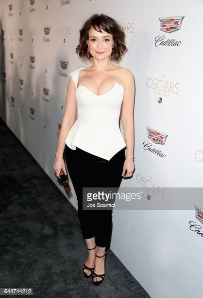 Actor Milana Vayntrub attends the Cadillac Oscar Week Celebration at Chateau Marmont on February 23 2017 in Los Angeles California