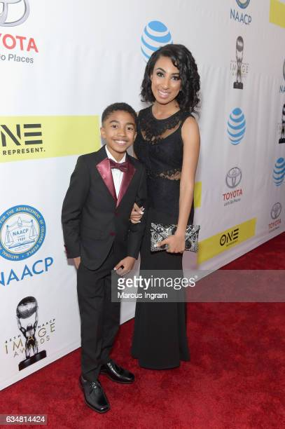Actor Miles Brown and Cyndee Brown attend the 48th NAACP Image Awards at Pasadena Civic Auditorium on February 11 2017 in Pasadena California
