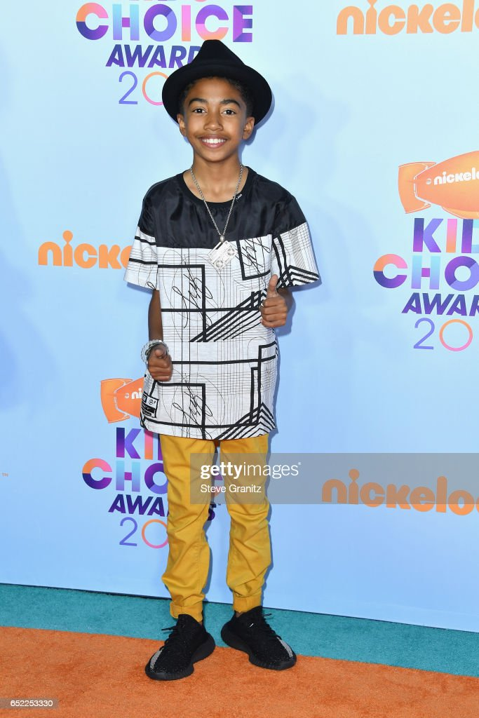 Actor Miles Brown at Nickelodeon's 2017 Kids' Choice Awards at USC Galen Center on March 11, 2017 in Los Angeles, California.