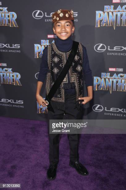 Actor Miles Brown at the Los Angeles World Premiere of Marvel Studios' BLACK PANTHER at Dolby Theatre on January 29 2018 in Hollywood California