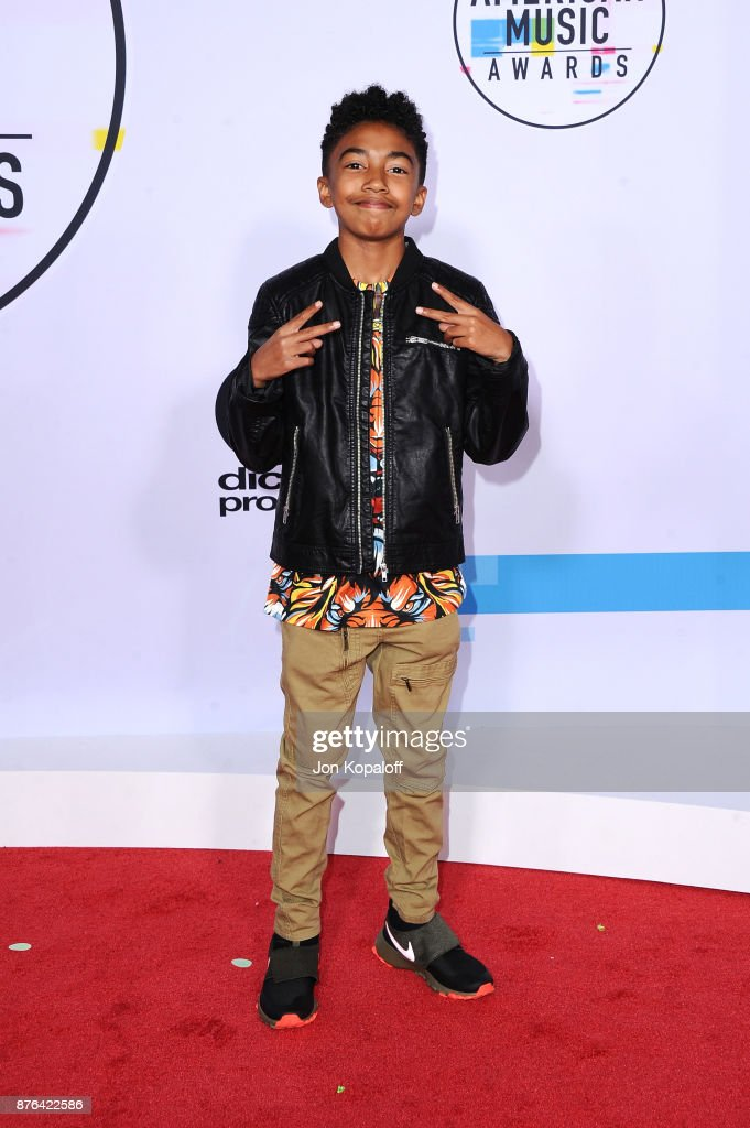 Actor Miles Brown attends the 2017 American Music Awards at Microsoft Theater on November 19, 2017 in Los Angeles, California.
