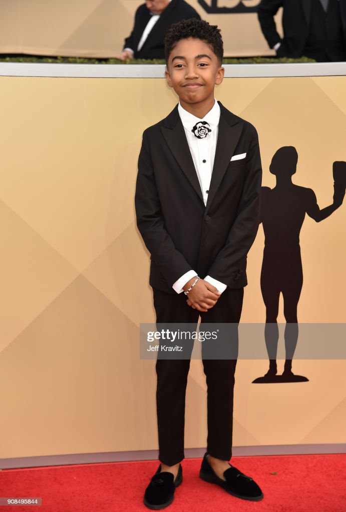 Actor Miles Brown attends the 24th Annual Screen ActorsGuild Awards at The Shrine Auditorium on January 21, 2018 in Los Angeles, California.