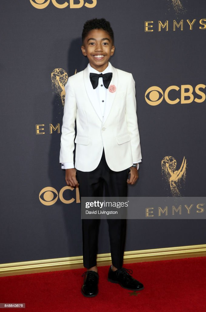 Actor Miles Brown attends the 69th Annual Primetime Emmy Awards - Arrivals at Microsoft Theater on September 17, 2017 in Los Angeles, California.
