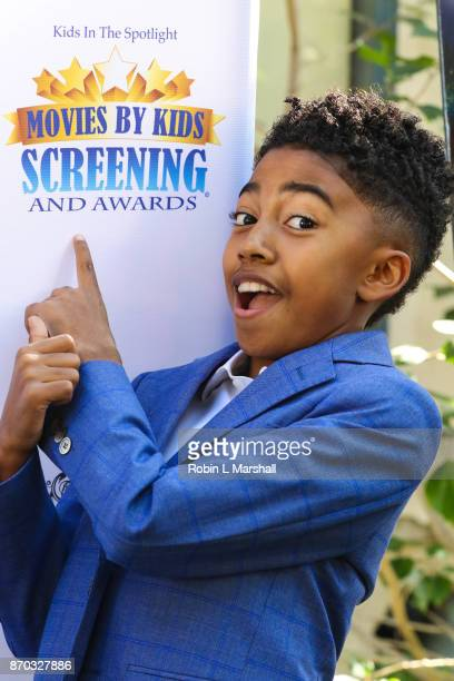 12d7166f411 Actor Miles Brown attends the 8th Annual Movies By Kids Awards Show at Fox  Studios on