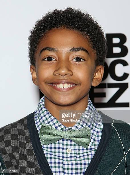 Actor Miles Brown attends the grand opening of the Jabbawockeez dance crew's show JREAMZ at MGM Grand Hotel Casino on February 19 2016 in Las Vegas...