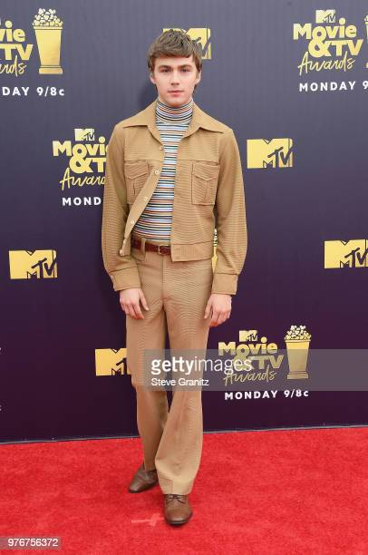Actor Miles Heizer attends the 2018 MTV Movie And TV Awards at Barker Hangar on June 16 2018 in Santa Monica California