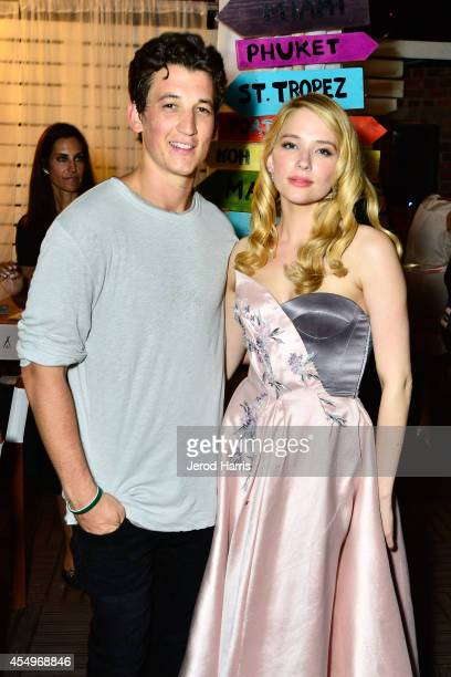 Actor Miles Teller and Haley Bennett attend the Nikki Beach Pop-up at The Spoke Clube during the Toronto Film Festival - Day 4 on September 7, 2014...