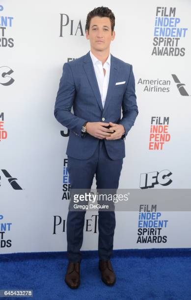 Actor Miles Teller arrives at the 2017 Film Independent Spirit Awards on February 25 2017 in Santa Monica California