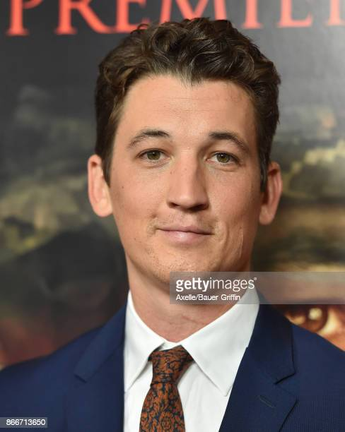 Actor Miles Teller arrives at the premiere of DreamWorks Pictures and Universal Pictures' 'Thank You for Your Service' at Regal LA Live Stadium 14 on...