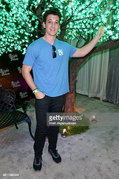 Actor Miles Teller attends Kari Feinstein's PreGolden Globes Style Lounge at Andaz West Hollywood on January 8 2015 in West Hollywood California