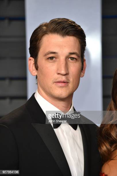 Actor Miles Teller attends the 2018 Vanity Fair Oscar Party hosted by Radhika Jones at Wallis Annenberg Center for the Performing Arts on March 4...
